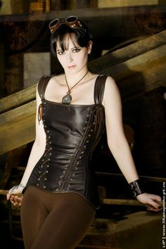 Simple leather corset.