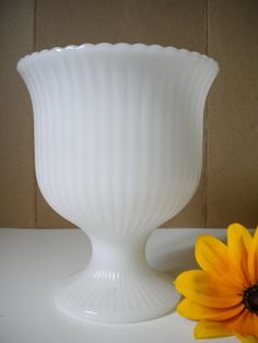 Brody milk glass urn