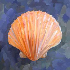 paintings of seashells | Seashell I Painting - Seashell I Fine Art Print