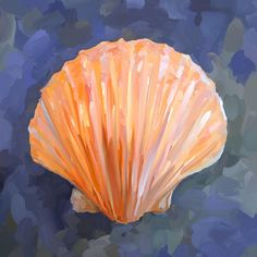 paintings of seashells | Seashell I Painting - Seashell I Fine Art Print