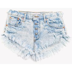 Keepers Stoner Wildest Babe Shorts ❤ liked on Polyvore featuring shorts, destroyed shorts, frayed shorts, denim shorts, distressed shorts and ripped denim shorts