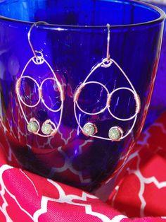 Drop Earrings Wire Wrapped Sterling Silver by STFDoorDesigns