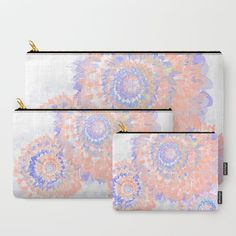 Floral Abstract 90 Carry-All Pouch by maryberg