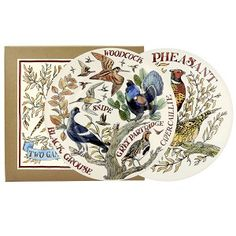Set of 2, 8½ Plate Game Birds - Emma Bridgewater - Pine-apple - Import