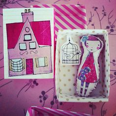 Miniture Camille pocket doll in her little door lovelysweetwilliam