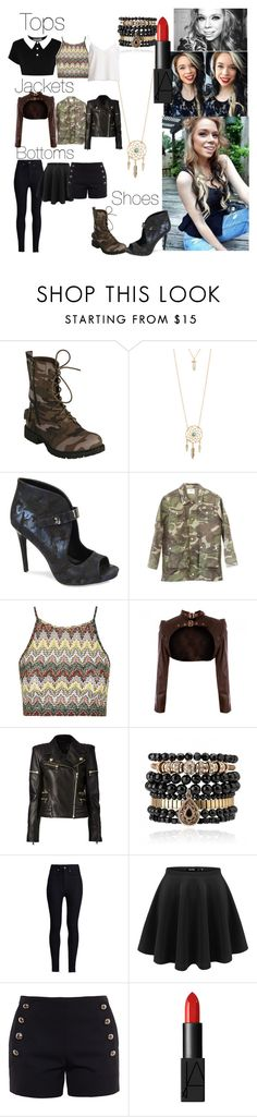 """Grav3yardgirl Style Steal"" by sky0129 ❤ liked on Polyvore featuring Aéropostale, Fergie, Killstar, Topshop, Balmain, Samantha Wills, Rodarte, Chloé and NARS Cosmetics"