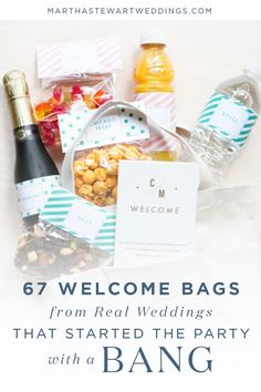 67 Welcome Bags from Real Weddings that Started the Party with a Bang   Martha Stewart Weddings