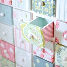 Advent House drawers by toriejayne, via Flickr