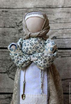 """Мамушка-кормилица"" обережная кукла - серый,кукла оберег,мама,традиционная кукла"