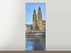Tür #Tapete Die Altstadt von Zürich