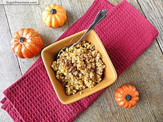 Pumpkin Vanilla Millet Porridge: Dairy & Gluten Free | SugarFreeMom.com