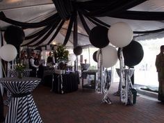 Plan a 50th black out party to signify the passing of youth.  See more 50th birthday party themes and party ideas at www.one-stop-party-ideas.com