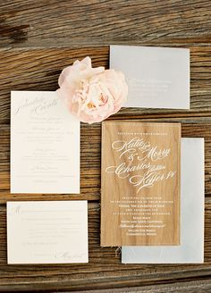 How pretty are those printed materials from this beautiful wedding!