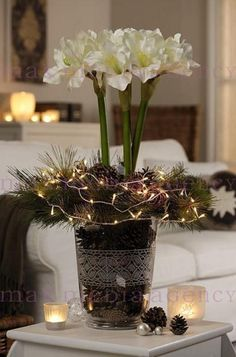 Dekoration and pelz on pinterest - Amaryllis dekorieren ...
