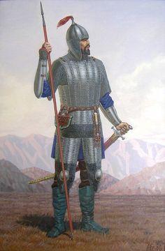 Armoured Kazakh Warrior