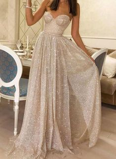 Sweetheart Long A-line Sequin Tulle Prom Dresses, Side Slit Prom Dresses, Sparkle Prom Dresses, Shiny Prom Dresses · Sweet Lady · Online Store Powered by Storenvy Cheap Evening Dresses, A Line Prom Dresses, Tulle Prom Dress, Cheap Prom Dresses, Formal Dresses, Wedding Dresses, Sequin Evening Dresses, Sweetheart Prom Dress, Bridesmaid Gowns