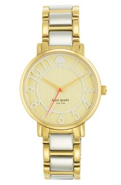 In love with this classic two-tone watch | Kate Spade