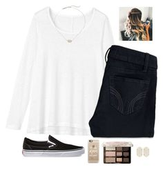 """Remake of another outfit🤔"" by morganhaley45 on Polyvore featuring Toast, Vans, Hollister Co., Casetify, Kendra Scott and Too Faced Cosmetics"
