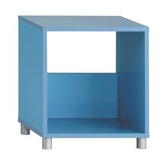 Cubo Single Tier Cube Footed Shelf - Blue | Milan Direct