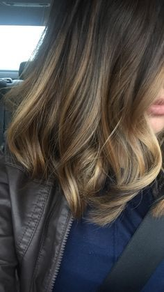 I'm so happy I dyed my hair! Subtle ombré with a subtle bayalage. 10/31/15