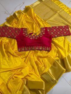 Wedding Saree Blouse Designs, Pattu Saree Blouse Designs, Blouse Designs Silk, Saree Blouse Patterns, Designer Blouse Patterns, Choli Designs, Wedding Sarees, Bridal Lehenga, Saree Dress