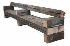 Contemporary bench / in wood - CHUNKY