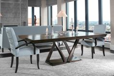 Z Dining Table - Mid-Century / Modern Dining Room Tables - Dering Hall