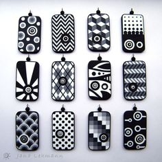 Graphic Pendants, via Flickr.