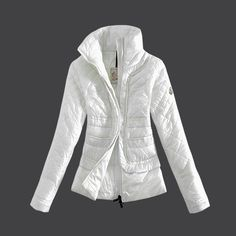 2013 New! France Moncler Design Women Down Jacket Stand Collar White Outlet