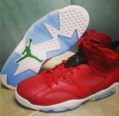 online store 20817 b0cef red leather jordan 6 Air Jordan 6 Spizike Cheap Jordan Shoes, Cheap Jordans,  Nike