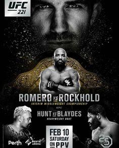 "UFC221 official updated poster. #mma #ufc"""