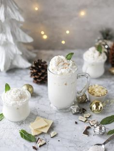 What's better than hot chocolate, you say? How about a fresh mint white hot chocolate! It's sweet, with a hint of refreshing mint that's sure to please.