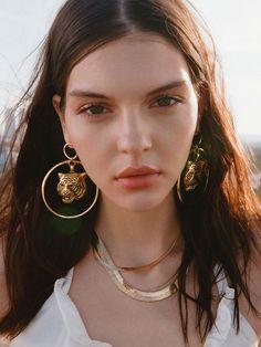Earrings The Latifah Tiger Gold Earrings Vanessa Mooney