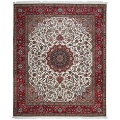 Authentic Persian Tabriz Hand-Knotted Area Rug   From a unique collection of antique and modern persian rugs at https://www.1stdibs.com/furniture/rugs-carpets/persian-rugs/