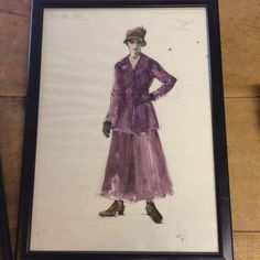 Offers accepted Four framed fashion drawings. The writing on the drawings of the ladies says 'Accrington Pals' and a name. The writing on the portrait of the man says … Contemporary Artwork, Vintage Prints, Original Paintings, The Originals, Portrait, Drawings, Fashion, Moda, Headshot Photography
