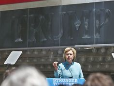 Hillary Clinton gave a campaign speech on the boardwalk in Atlantic City on July 6, in front of the closed and failed Trump Plaza Casino. I see the future.