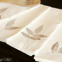 Leaf Stamped Napkins