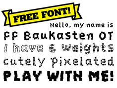 Find FF Baukasten on #FontShop and download it for free! #freefonts #fonts #typography