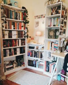 Lazy - Pintogopin Club - Fancyhomes: eine Mini-Bibliothek in Ihrem Zimmer – Apartment Showcase – – - Apartment Showcase, Home Libraries, Aesthetic Room Decor, Dream Rooms, My New Room, House Rooms, Living Rooms, Dorm Room, Room Inspiration