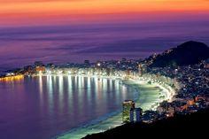 Rio De Janeiro skyline at night