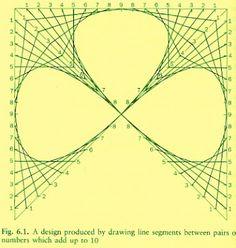 Free String Art pattern Clover