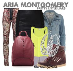 Inspired by Lucy Hale as Aria Montgomery on Pretty Little Liars. Pretty Little Liars Aria, Pretty Little Liars Outfits, Pll, New Outfits, Cute Outfits, Lucy Hale Style, Fandom Fashion, Little Fashion, Swimwear Fashion