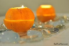 how to make an orange lantern candle
