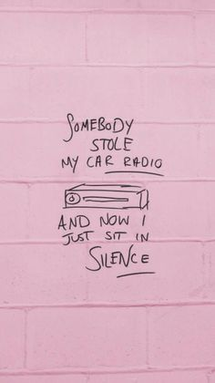 I´m forced to deal with what I feel, there is no distraction to mask what is real. twenty one pilots, car radio