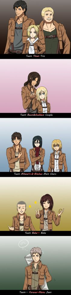 SnK - The Teams and Jean by Athyra on deviantART
