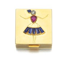 RUBY, SAPPHIRE AND DIAMOND PILL BOX, VAN CLEEF & ARPELS, 1940S - Formerly the Duchess of Windsor's