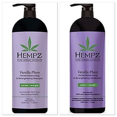 Hempz Vanilla Plum Herbal Moisturizing & Strengthening Shampoo + Condtioner Duo (33.8 oz)