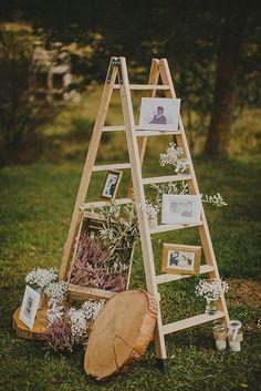 Rustic Country Wedding Ideas: Ladder Wedding Ideas – Page 2 – Hi Miss Puff Ladder Wedding, Farm Wedding, Wedding Tips, Wedding Events, Wedding Favors, Rustic Wedding, Dream Wedding, Wedding Decorations, Decor Wedding