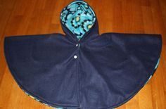 Car seat cape tutorial, baby size with guidelines for other sizes. Old Fashioned Modern Living.