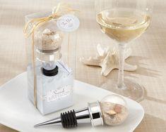 """myweddingfavors.com  """"Seaside"""" Sand and Shell-Filled Globe Bottle Stopper"""
